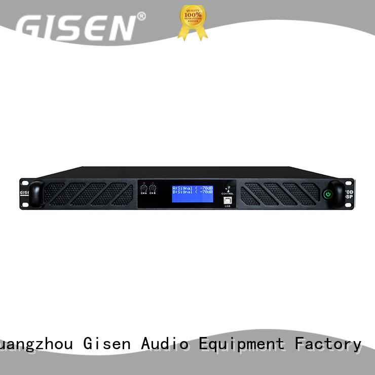Gisen 8ohm dsp amplifier factory for stage