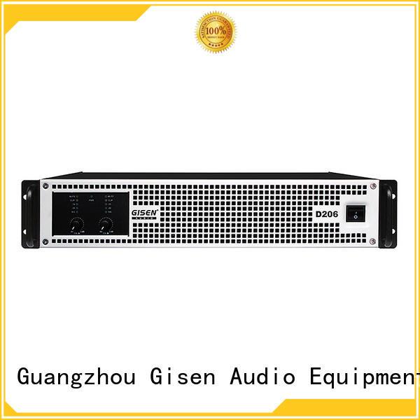 Gisen high efficiency best class d stereo amplifier 2100wx2 for ktv