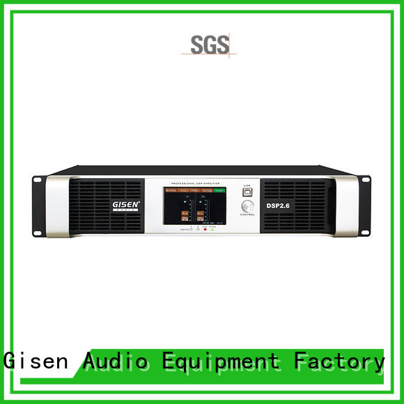 Gisen high quality dj power amplifier factory for venue