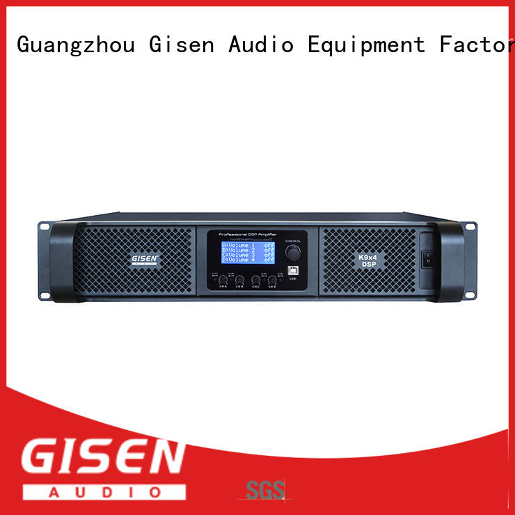 dsp best power amplifier in the world touch screen for stage Gisen