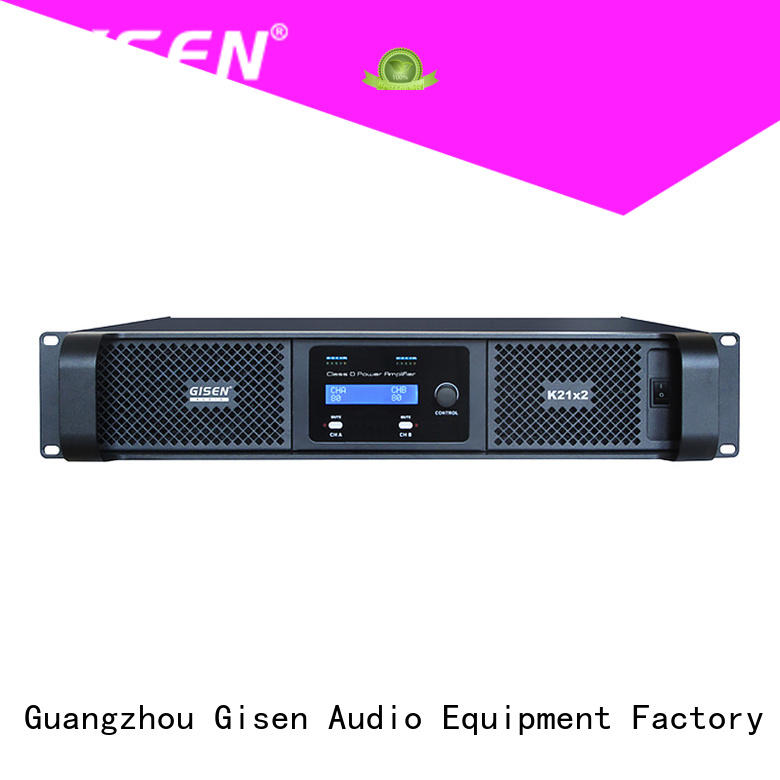 Gisen 2100wx4 sound digital amplifier fast delivery for performance