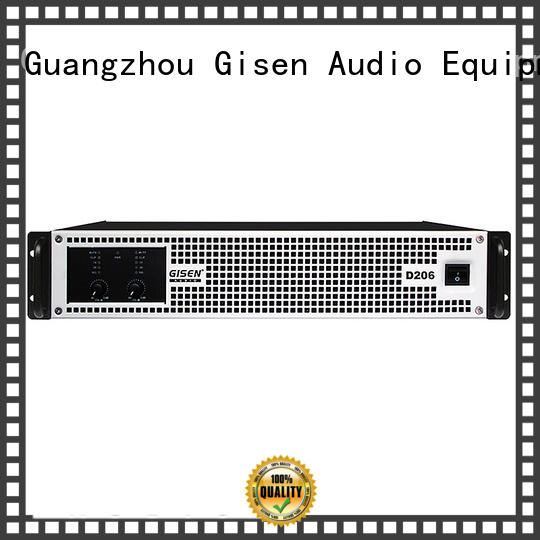 Gisen 2100wx2 class d audio amplifier manufacturer for stadium