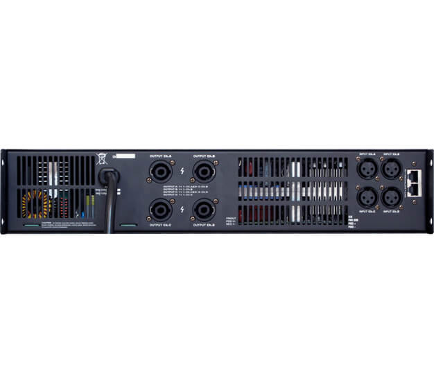 4 channel professional power amplifier with touch-screen DSP-4