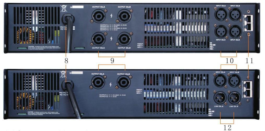 Gisen 8ohm dj power amplifier supplier