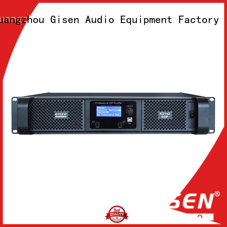 Gisen multiple functions 1u amplifier wholesale for stage