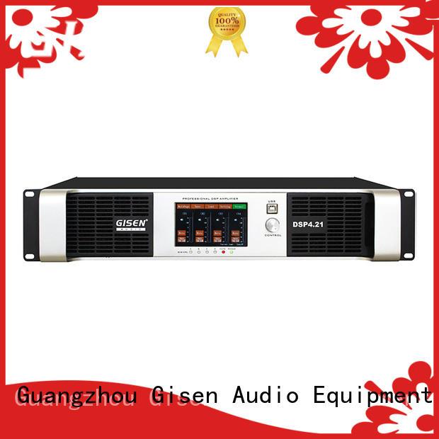 Gisen multiple functions professional dj amplifier 2100wx2