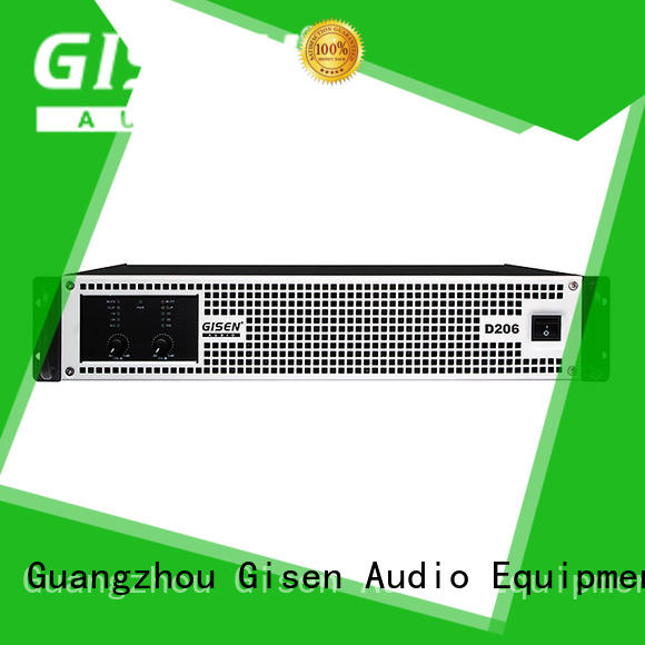 Gisen advanced top 10 power amplifiers wholesale for entertaining club