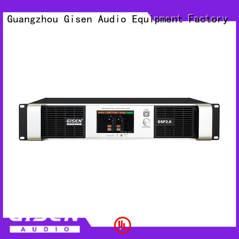 Gisen professional desktop audio amplifier supplier for stage