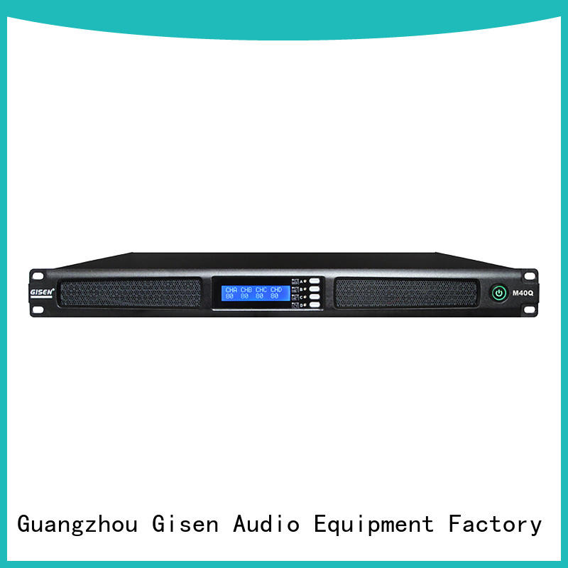 Gisen new model professional power amplifier supplier for performance