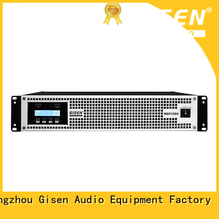 Gisen strict inspection best audio amplifier overseas market for meeting