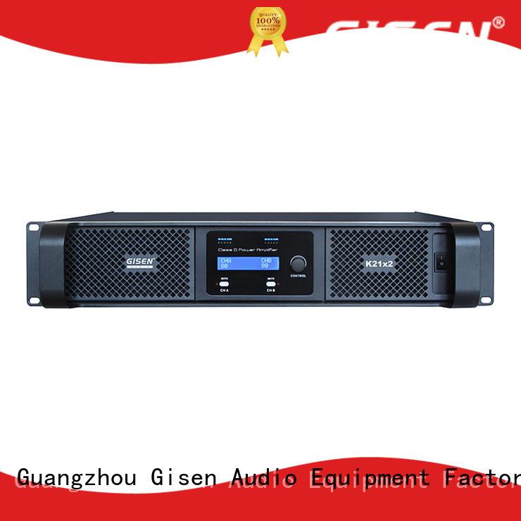 Gisen 2100wx4 best class d amplifier manufacturer for stadium