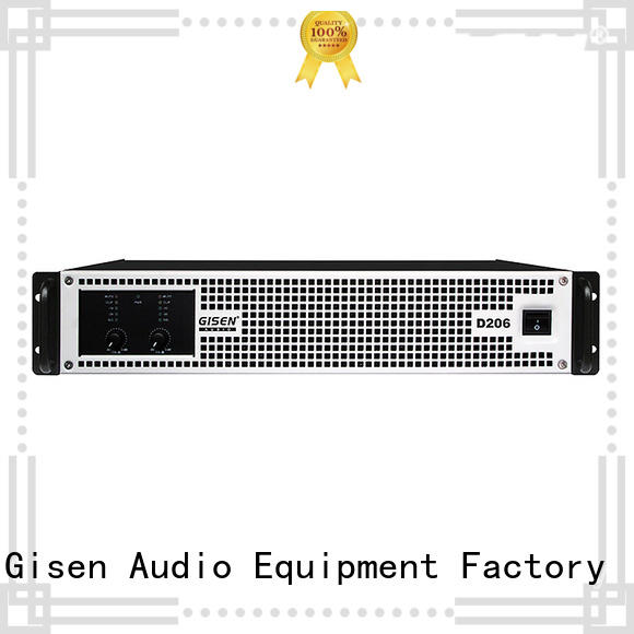 Gisen advanced class d stereo amplifier 2100wx2 for meeting