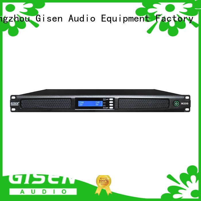 Gisen 2channel digital power amplifier manufacturer for venue