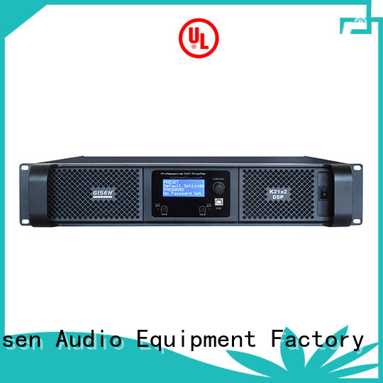 Gisen power dsp amplifier manufacturer for performance