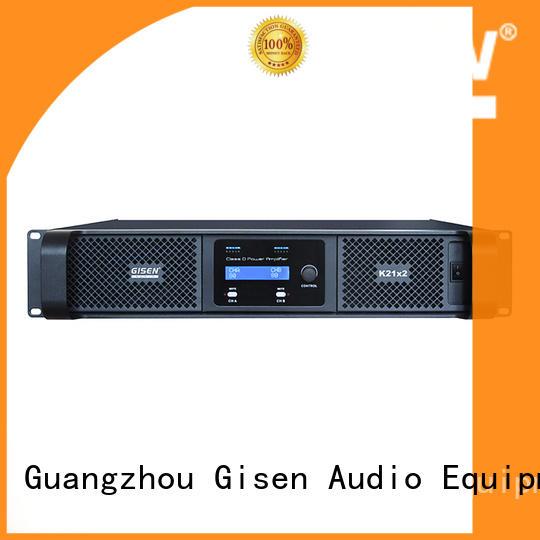 Gisen high efficiency class d audio amplifier supplier for ktv