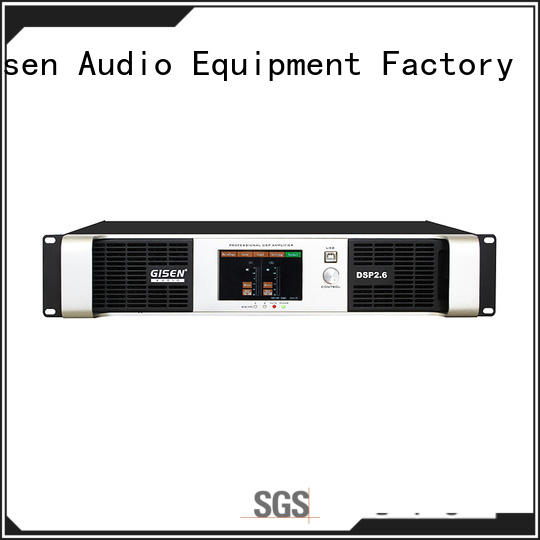 Gisen 4 channel dj power amplifier supplier for venue