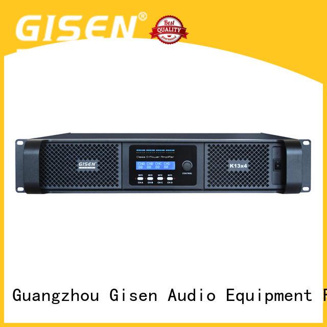 Gisen 8ohm class d audio amplifier wholesale for stadium