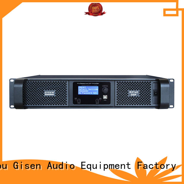 Gisen professional dsp amplifier factory for various occations