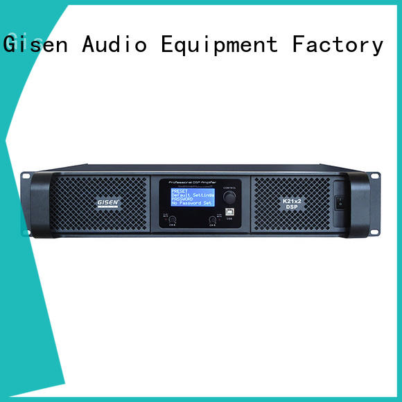 Gisen professional homemade audio amplifier manufacturer for stage