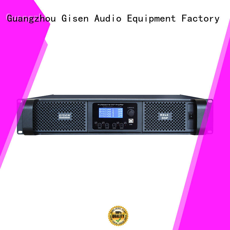 Gisen 4 channel amplifier sound system factory for performance