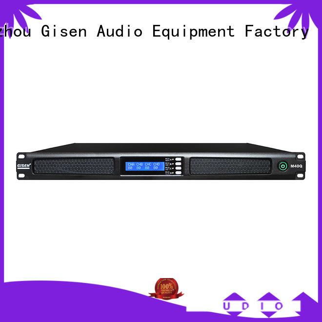 Gisen new model 4 channel amplifier manufacturer for performance