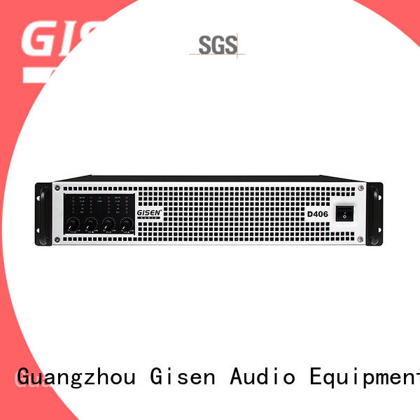 Gisen advanced class d power amplifier manufacturer for stadium