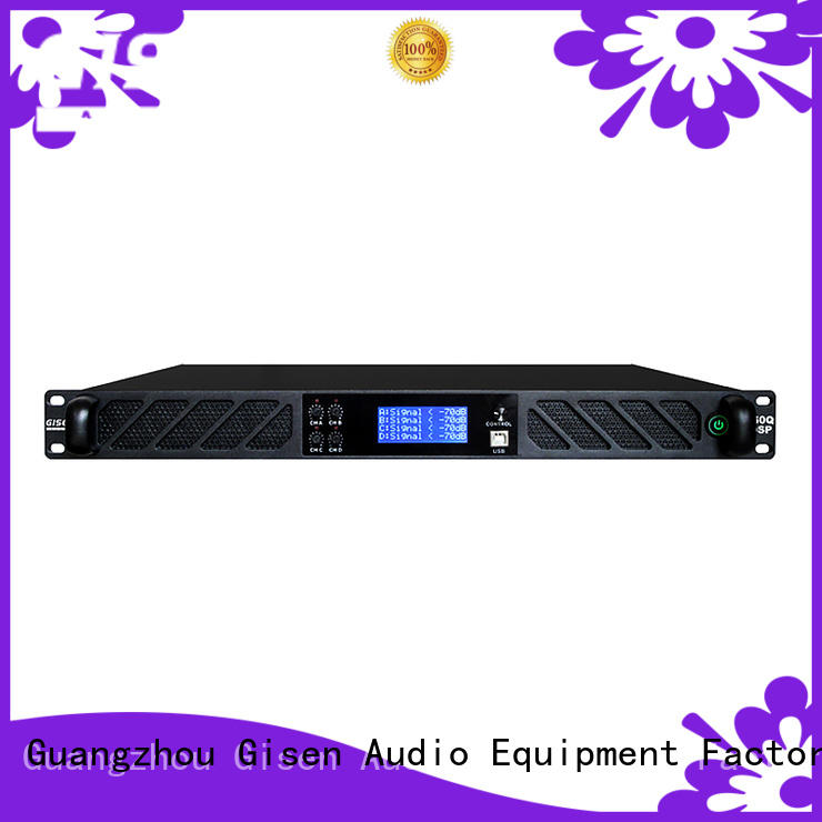 Gisen high quality dj stereo amplifier 4 channel for performance