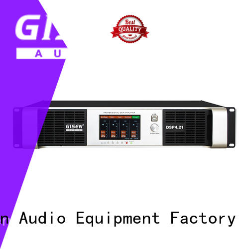 Gisen 2100wx2 dsp amplifier factory for various occations