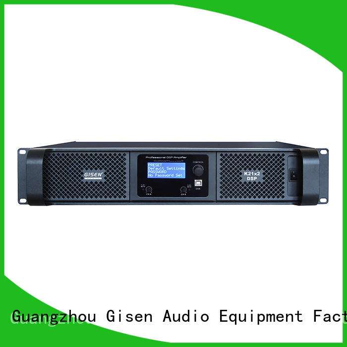 Gisen channel dsp amplifier wholesale for venue