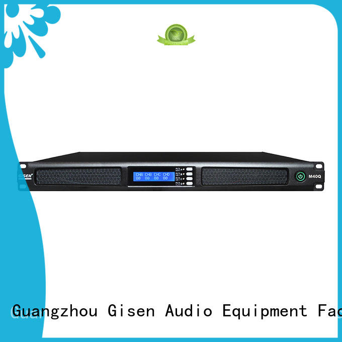 Gisen power 4 channel amplifier series for venue