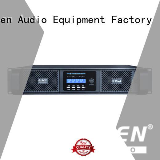 Gisen digital class d amplifier manufacturer for stadium