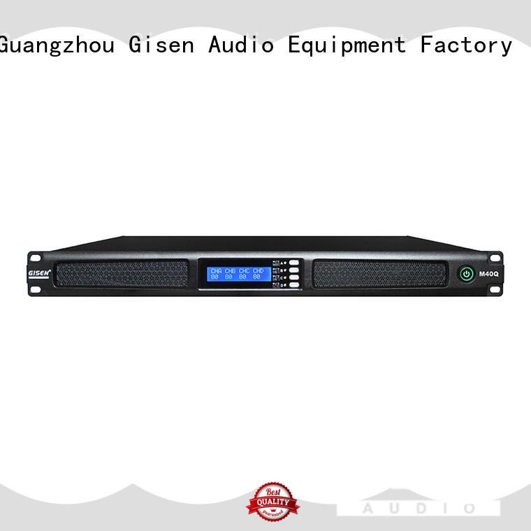 1U digital 4-channel high power amplifier