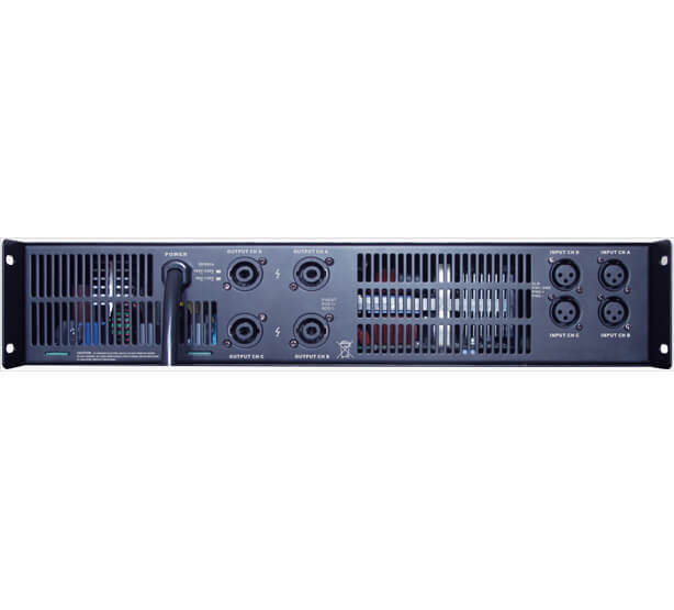 Gisen 2 channel multi channel amplifier factory for stage-2