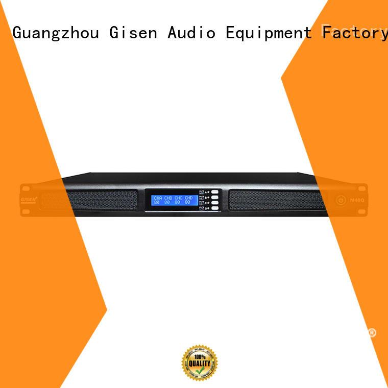 Gisen class digital stereo amplifier supplier for venue