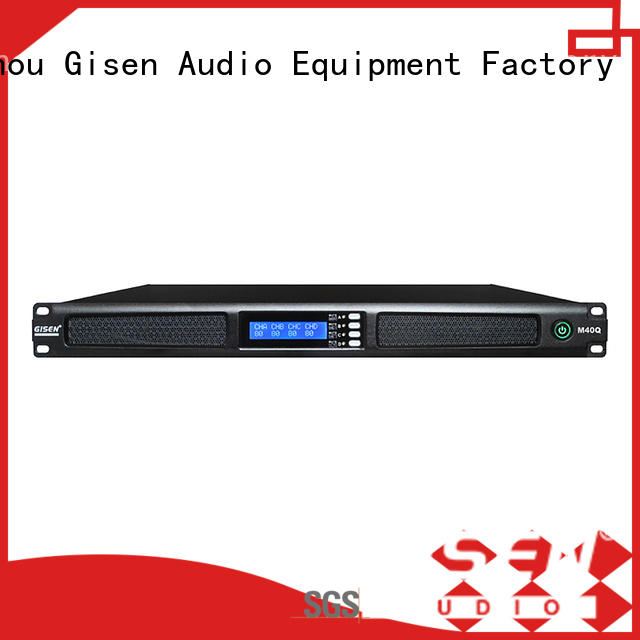 Gisen digital 2 channel power amplifier manufacturer for entertainment club