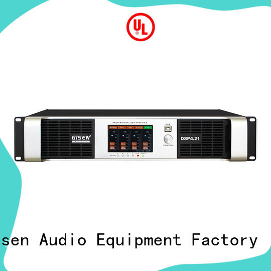 4 channel professional power amplifier with touch-screen DSP