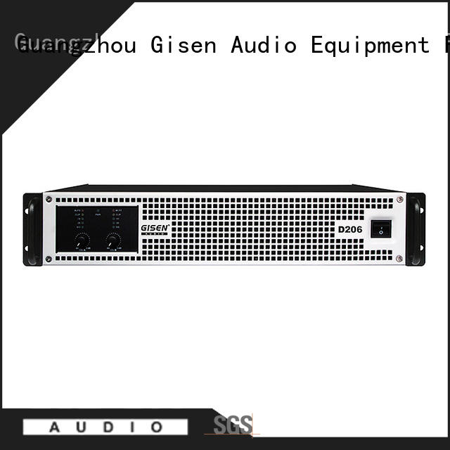 Gisen high efficiency class d professional amplifier amplifier for entertaining club