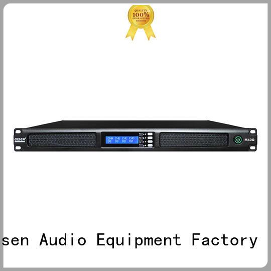2channel 1u rack mount amplifier class for venue Gisen