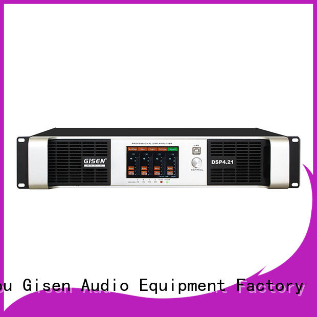 Gisen 4 channel dj power amplifier supplier for performance
