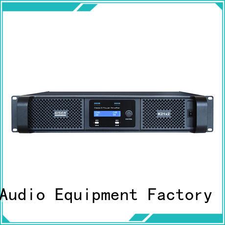 Gisen professional class d power amplifier manufacturer for performance