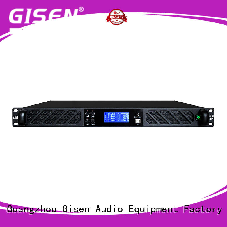 Gisen multiple functions audio amplifier pro supplier for stage