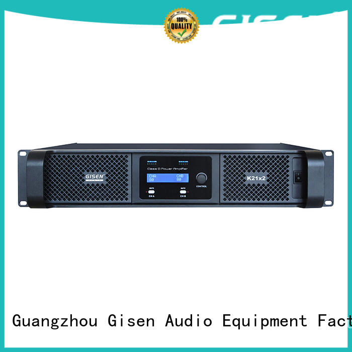 Gisen power class d stereo amplifier fast delivery for stadium