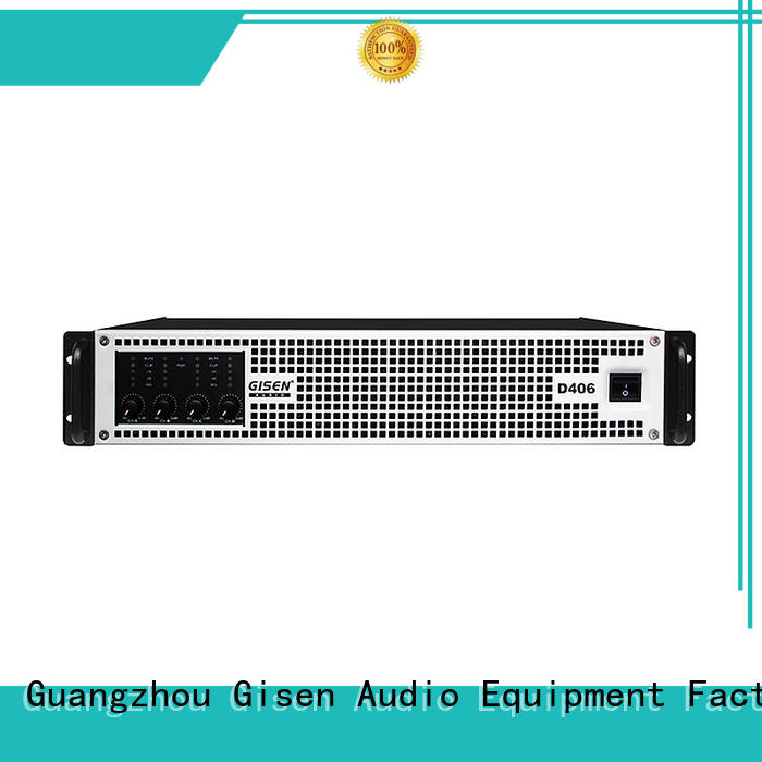 Gisen 2100wx4 best class d amplifier fast delivery for entertaining club