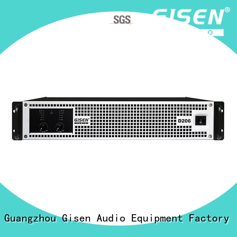 Gisen high efficiency class d stereo amplifier wholesale for ktv