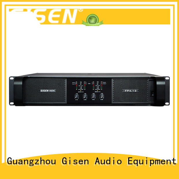Gisen 4x1300w stereo power amp supplier for ktv