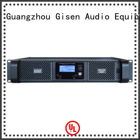 Gisen dsp dsp power amplifier factory for stage