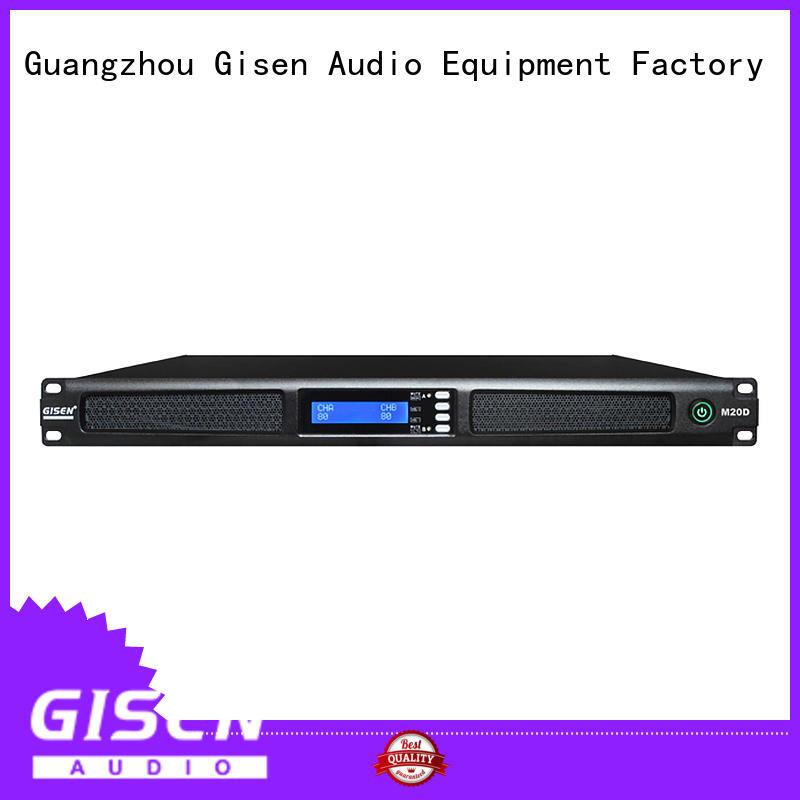 1U class D 2-channel power amplifier