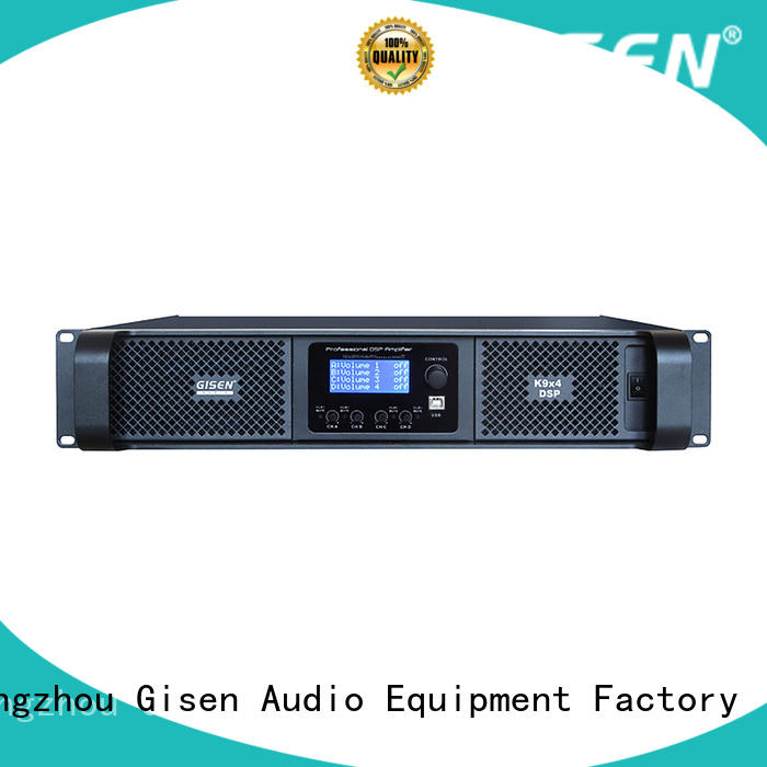 Gisen 2 channel multi channel amplifier factory for stage