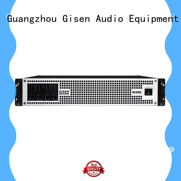 Gisen 8ohm 2 channel class d amplifier fast delivery for performance