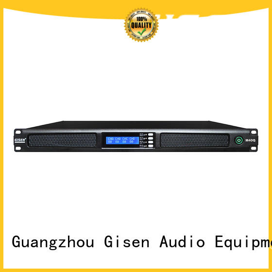 Gisen new model 4 channel digital amplifier series for performance